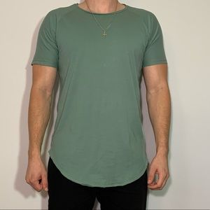 Large Scooped Turquoise Green Vitaly T-Shirt